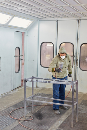 Light Industrial Spray Booth