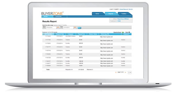 Online Reporting Dashboard