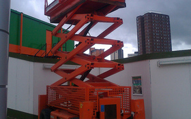 Aerial Lift Roof Construction
