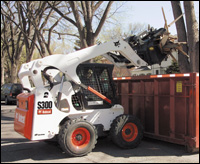 Vertical-lift-path loaders