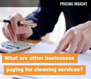 What are other businesses paying for cleaning services?