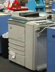 Used copier in an office