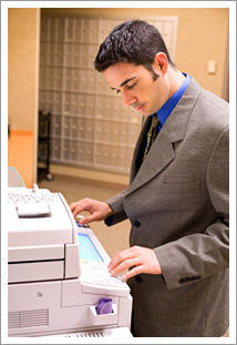 Business copier in use