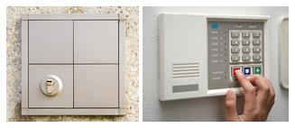 House alarm control panel and keypad